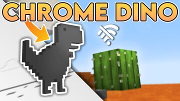 YOU ARE OFFLINE: A Recreation of The Chrome Dino Game. Minecraft Map & Project