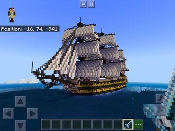 HMS REVENGE OF 1805 Minecraft Map & Project