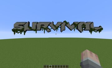 Overgrown Survival Sign Minecraft Map & Project