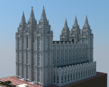 Salt Lake Temple Minecraft Map & Project