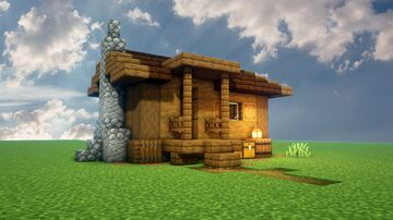 Cozy Wooden Hut Minecraft Map & Project