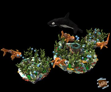 Floating Underwater Spawn [300x200] - With Orca Organic! Minecraft Map & Project