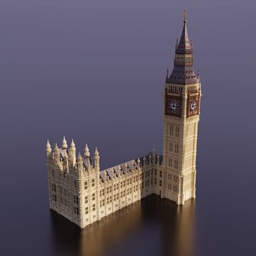 Palace of Westminster | Big Ben Minecraft Map & Project
