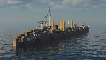 HMS Hornet (1893) Torpedo Boat Destroyer Minecraft Map & Project