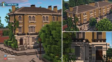 Victorian Italianate villa - semi detached townhouse Minecraft Map & Project