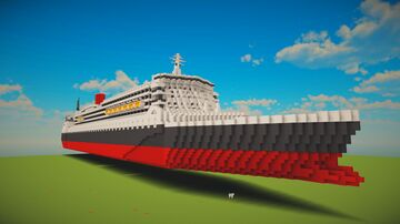 Queen Mary 2 Ship In Shematics ! Minecraft Map & Project