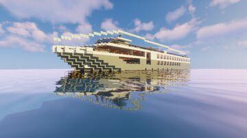 Minecraft custom river cruise ship -- MS dawn (FULL INTERIOR) Minecraft Map & Project