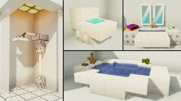 10 Easy Bathroom Furniture Design Ideas! Minecraft Map & Project