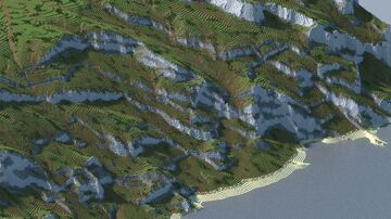 ☀️ Asset Map  - Realistic Rocky Cliff Wall Minecraft Map & Project