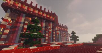 Snowlem Cane Mall - Holiday Build Contest Minecraft Map & Project