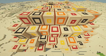 The Burning Desert - Multicube Labyrinth Minecraft Map & Project