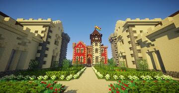 Neogothic Chateau - Survival build Minecraft Map & Project