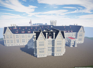 Minecraft replica of the Magdalena Palace, Santander, Spain. Minecraft Map & Project
