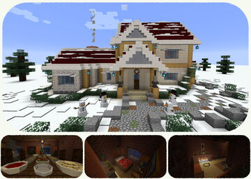 """""""Old Nordic"""" styled Christmas House Minecraft Map & Project"""