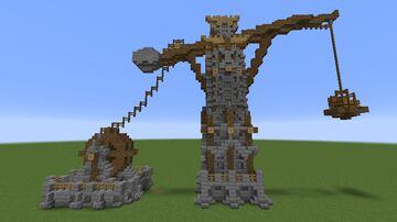 Medieval Fantasy Crane Minecraft Map & Project