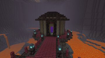 Nether base in a cave Minecraft Map & Project