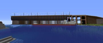 "the SS Frank Rockefeller ""SS Meteor."" is finished as she was in 1897 Minecraft Map & Project"