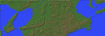 [1:50] Map of Kansai Region, Japan. Minecraft Map & Project