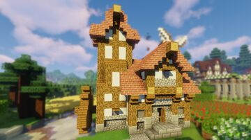 Medieval Watermill W/ Tutorial Minecraft Map & Project