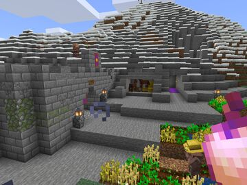 Mountain dwelling Minecraft Map & Project