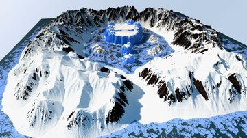 Arctic Glacier/Mountain Map [2k/2k] download Minecraft Map & Project