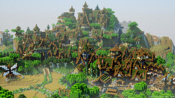 Wood Elven City Minecraft Map & Project