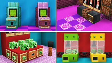 10 Arcade Machine Designs in Minecraft! Minecraft Map & Project