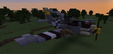 P-51D Mustang WW2 Fighter Plane Minecraft Map & Project