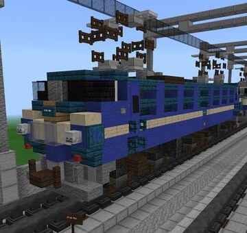 [1⅔:1] Japanese National Railways EF66 Electric Locomotive Variations Minecraft Map & Project