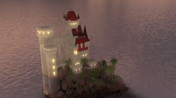 Castle on the island Minecraft Map & Project