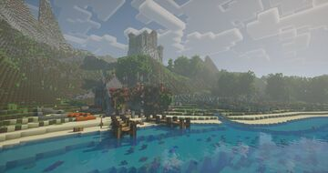 A medieval port town in Minecraft | Arcadia Minecraft Map & Project