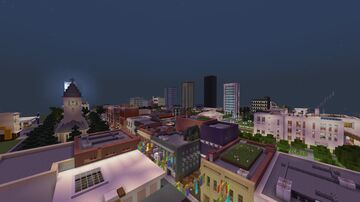 Skyline of the city Minecraft Map & Project