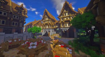 Bree, Third age of Middle Earth [Human Village] - LOTR+ mod Minecraft Map & Project
