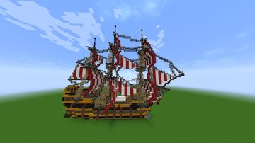 Minecraft Frigate Ship +Download Minecraft Map & Project
