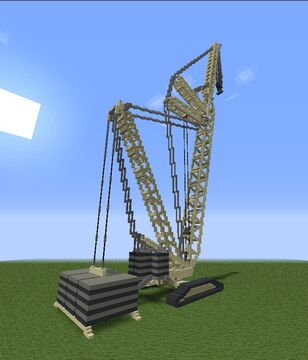 Huge crawler crane Minecraft Map & Project