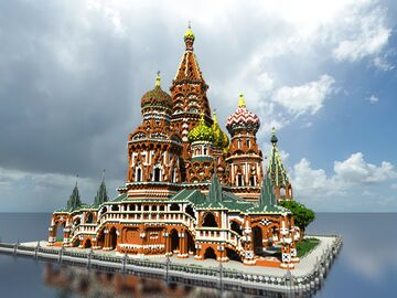 Saint Basil's Cathedral - 4:1 Minecraft Map & Project