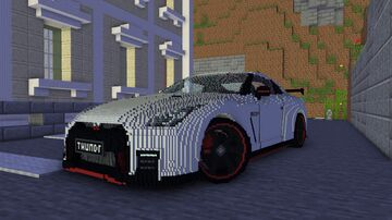 Nissan G-TR 35 Nismo 2017 Minecraft Map & Project