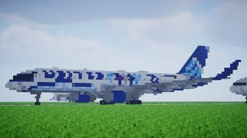 """United Airlines 757-200 """"Her Art Here: California"""" Livery [1.5:1 Scale] Minecraft Map & Project"""