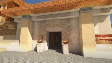 ROMAN BATHHOUSE WIP Minecraft Map & Project