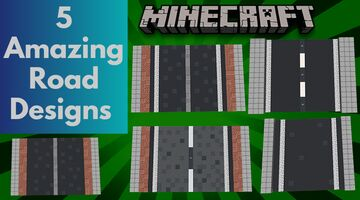 MINECRAFT AMAZINGLY ORIGINAL CITY ROAD DESIGNS. Minecraft Map & Project