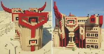The Burning Desert - Horned Residence Minecraft Map & Project