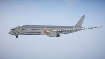 1,5:1 Boeing 787-9 Dreamliner Minecraft Map & Project