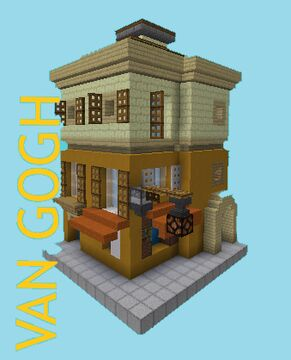"""Van Gogh - """"The Yellow House"""" + """"Bedroom in Alres"""" Minecraft Map & Project"""