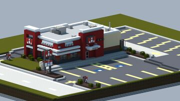 KFC, Kentucky Fried Chicken [With Interior, and download] Minecraft Map & Project