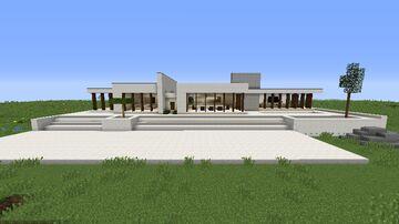 1.16.4 Minimalist Modern House Minecraft Map & Project