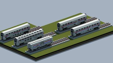 Amtrak Superliner set, Phase III [With download] Minecraft Map & Project