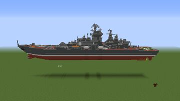 Kirov-class Soviet battlecruiser 1/2 scale Minecraft Map & Project