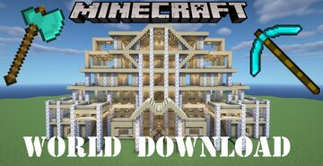 LARGE MODERN BIRCH WOODEN HOUSE | WORLD DOWNLOAD Minecraft Map & Project