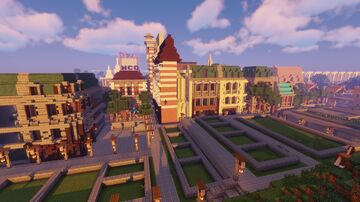 New Fabric Project (19th century, medieval and modern buildings) Minecraft Map & Project