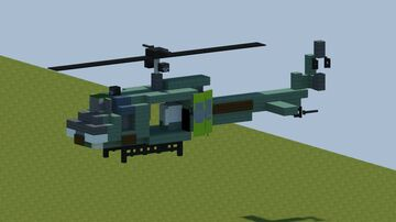 "Bell UH-1 Iroquois ""Huey"" helicopter [With Download] Minecraft Map & Project"